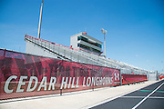 """Under Armour banners line the bleachers in the football stadium at Cedar Hill High School in Cedar Hill, Texas on August 24, 2016. """"CREDIT: Cooper Neill for The Wall Street Journal""""<br /> TX HS Football sponsorships"""