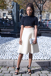 Naomie Harris attending the Miu Miu Fashion Show as part of Paris Fashion Week Spring Summer 2018 in Paris, France, on October 03, 2017. Photo by Aurore Marechal/ABACAPRESS.COM