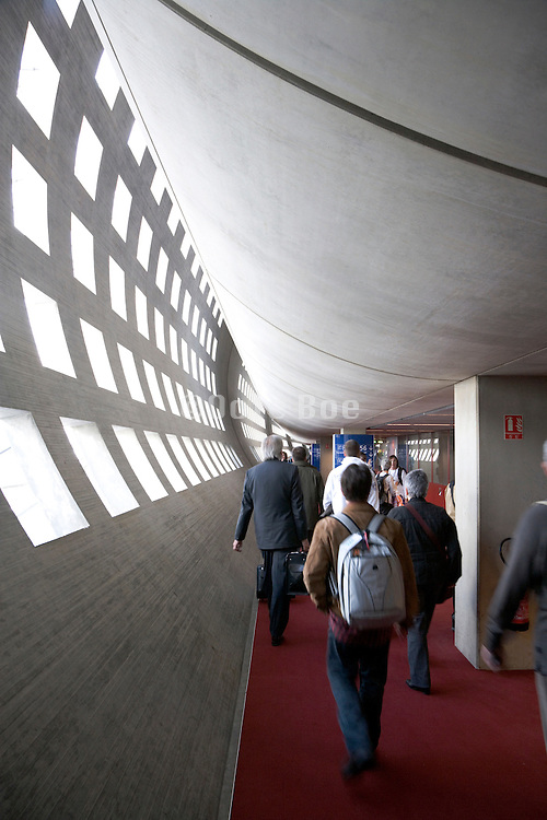 interior view of Charles de Gaulle airport Paris