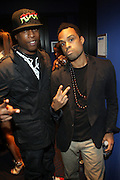 l to r: Talib Kweli and Bilal at The Black Star Concert presented by BlackSmith and Live N Direct held at The Nokia Theater in New York City on May 30, 2009