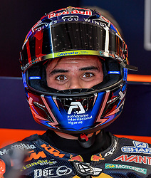 October 26, 2018 - Melbourne, Victoria, Australia - Portugese rider Miguel Oliveira (#44) of Red Bull KTM Ajo in his garage during day 2 of the 2018 Australian MotoGP held at Phillip Island, Australia. (Credit Image: © Theo Karanikos/ZUMA Wire)