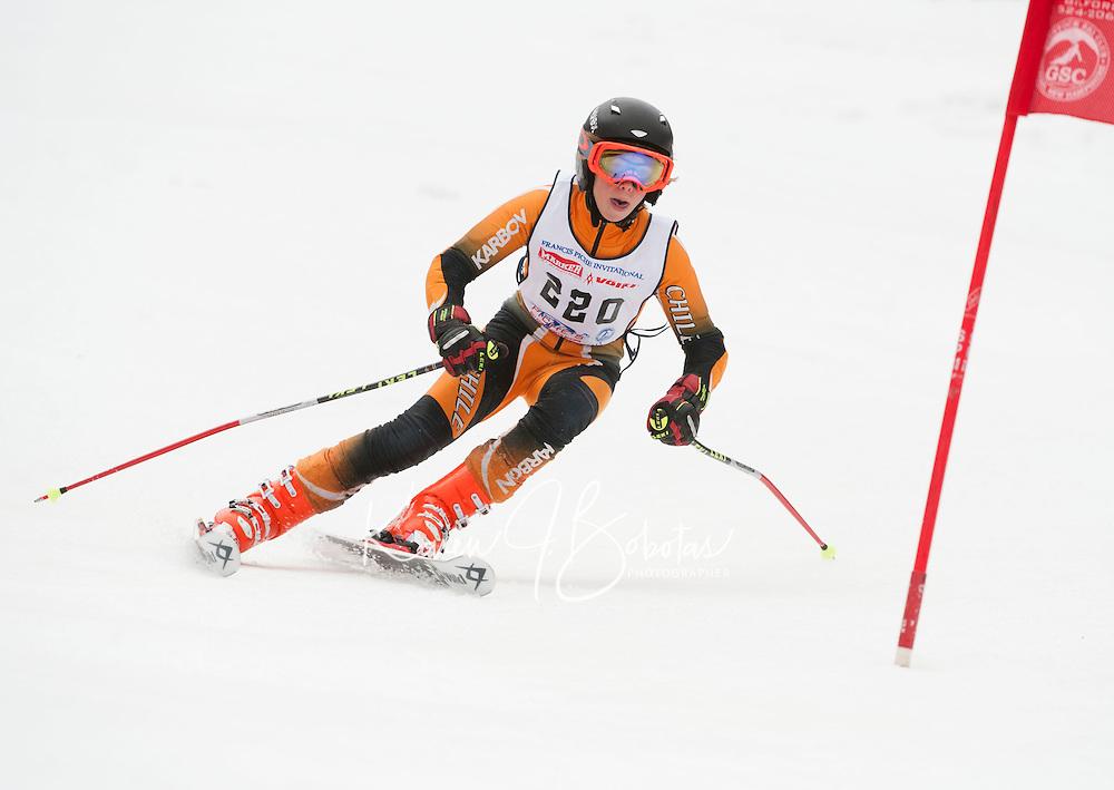 Francis Piche Invitational giant slalom for J4 at Gunstock March 17, 2012.