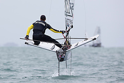 Day 1 of the McDougall + McConaghy 2015 Moth Worlds, Sailing Anarchy and Sperry Top-Sider Moth Worlds coverage 2015, Sorrento, Australia. January 9th 2015. Photo © Sander van der Borch.
