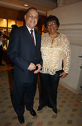 MR & MRS EDWIN POLLARD, he is High Commissioner of Barbados at the Holders Season Barbados Comes to London night at the Landmark Hotel, Marylebone Rd, London on 1st February 2007.<br /><br />NON EXCLUSIVE - WORLD RIGHTS