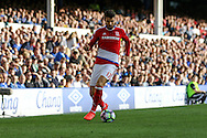 Antonio Barragan of Middlesbrough in action. Premier league match, Everton v Middlesbrough at Goodison Park in Liverpool, Merseyside on Saturday 17th September 2016.<br /> pic by Chris Stading, Andrew Orchard sports photography.