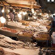 Located in downtown Athens, the Dimotiki Agora (also known as Varvakios Agora) is the largest retail fresh food market in the city. At its heart are rows of fish and seafood stalls, with fresh meat and butchers surround that, and fresh fruit and vegetables across the street.