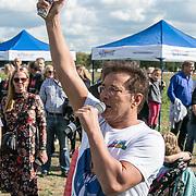 NLD/Amsterdam/20180925 - BN'ers over stormbaan voor metabole ziekte, Gerard Joling geeft t startschot