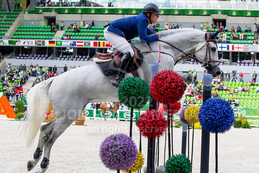 Bronislav Chudyba, (SVK), Concano - Team & Individual Competition Jumping Speed - Alltech FEI World Equestrian Games™ 2014 - Normandy, France.<br /> © Hippo Foto Team - Leanjo De Koster<br /> 02-09-14