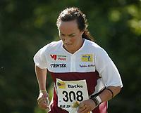 Orientering, 21. juni 2002. NM sprint. Annika Zell, Nydalen.