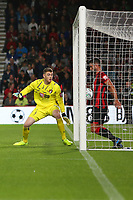 Football - 2019 / 2020 EFL Carabao (League) Cup - Second Round: AFC Bournemouth vs. Forest Green Rovers<br /> <br /> Bournemouth's Andrew Surman clears the ball before it crosses the line during the EFL cup tie at the Vitality Stadium (Dean Court) Bournemouth <br /> <br /> COLORSPORT/SHAUN BOGGUST