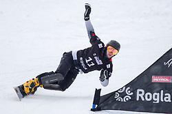 Dmitry Loginov (RUS) during Final Run at Parallel Giant Slalom at FIS Snowboard World Cup Rogla 2019, on January 19, 2019 at Course Jasa, Rogla, Slovenia. Photo byJurij Vodusek / Sportida