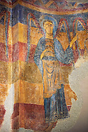 Romanesque frescoes from the Church of Sant Clement de Taull, Vall de Boi, Alta Ribagorca, Spain. Painted around 1123.  National Art Museum of Catalonia, Barcelona. MNAC 15806