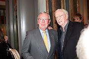 RICHARD SHEPHERD; SIR MICHAEL CAINE, Opening of David Hockney ' A Bigger Picture' Royal Academy. Piccadilly. London. 17 January 2012