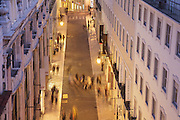 Rua do Carmo, in Chiado district is one of the main commercial streets is Lisbon.