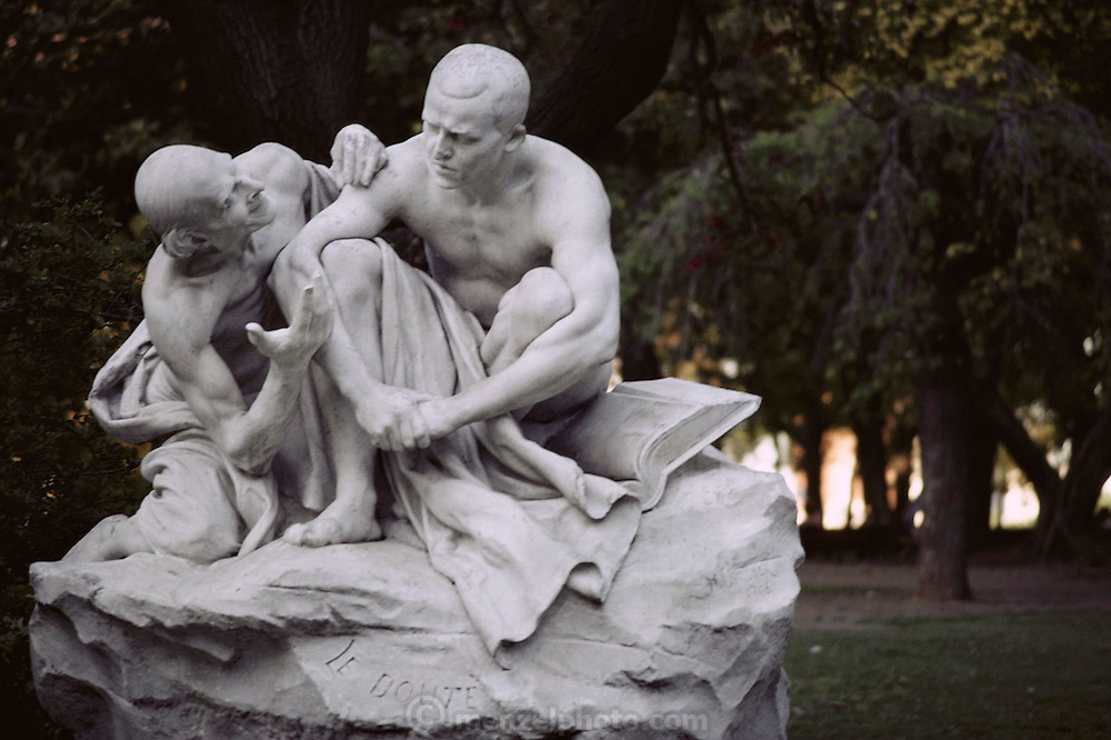 """A statue called """"Doubt"""" (Le Doute) in Buenos Aires, Argentina;"""