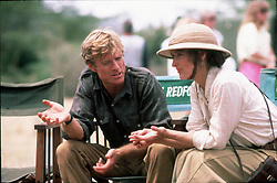 RELEASE DATE: December 18, 1985<br /> MOVIE TITLE: Out of Africa<br /> DIRECTOR: Sydney Pollack<br /> STUDIO: Universal Pictures<br /> PLOT: Follows the life of Karen Blixen, who establishes a plantation in Africa. Her life is Complicated by a husband of convenience (Bror Blixen), a true love (Denys), troubles on the plantation, schooling of the natives, war, and catching VD from her husband<br /> PICTURED: ROBERT REDFORD as Denys and MERYL STREEP as Karen <br /> (Credit Image: © Universal Pictures/Entertainment Pictures/ZUMAPRESS.com)