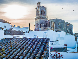 Church of Arcos de la frontera and old town, Andalucia, Spain, Europe