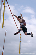 """Max Zuckerman clears 15'6"""" in pole vault at the Pascack Hills vs Westwood Track and Field dual meet on May 12, 2021."""