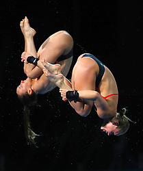 England's Robyn Birch and Lois Toulson compete in the Women's Synchronised 10m Platform Final at the Optus Aquatic Centre during day seven of the 2018 Commonwealth Games in the Gold Coast, Australia.