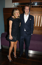 TOM & SARA PARKER BOWLES at a party to celebrate the publication of 'The year of Eating Dangerously' by Tom Parker Bowles held at Kensington Place, 201 Kensington Church Street, London on 12th october 2006.<br /><br />NON EXCLUSIVE - WORLD RIGHTS