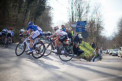 Mayuko Hagiwara (Wiggle Hi5 Cycling Team) rides in the main pack in the first, short lap of Trofeo Alfredo Binda - a 123.3km road race from Gavirate to Cittiglio on March 20, 2016 in Varese, Italy.