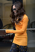 Victoria Beckham leaves an office building in the Chelsea