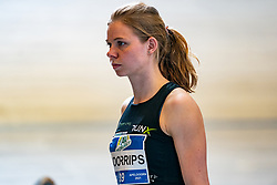 Suzanne Voorrips in action on the 800 meter during AA Drink Dutch Athletics Championship Indoor on 20 February 2021 in Apeldoorn.
