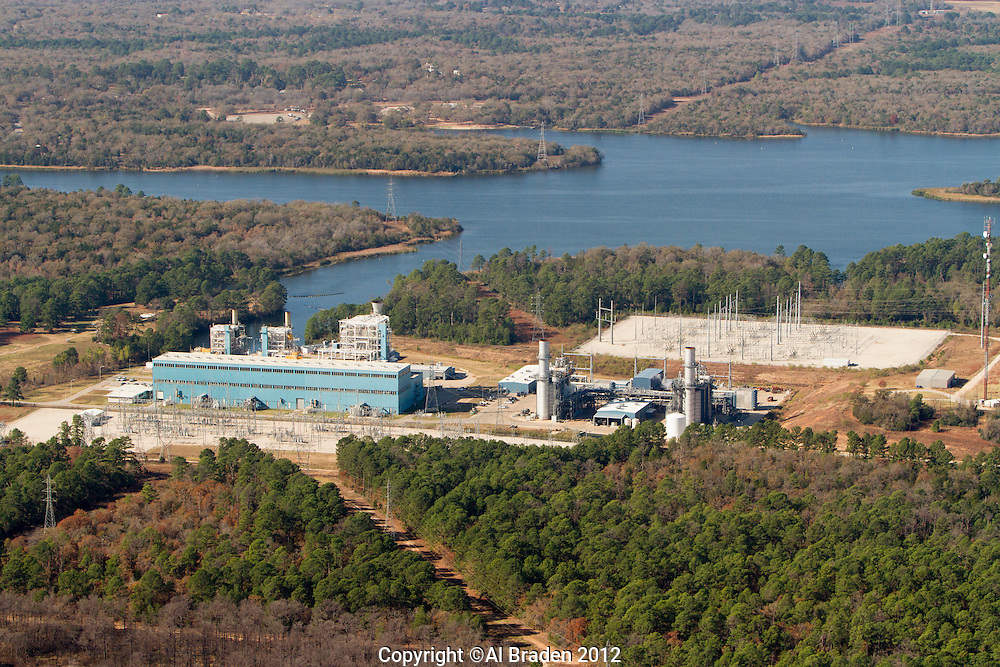 Sim Gideon and Lost Pines natural gas plants in Bastrop, TX owned by LCRA