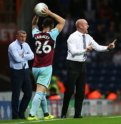 Burnley manager Sean Dyche gestures - Mandatory by-line: Matt McNulty/JMP - 23/08/2017 - FOOTBALL - Ewood Park - Blackburn, England - Blackburn Rovers v Burnley - Carabao Cup - Second Round