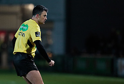 Referee Marius Mitrea<br /> <br /> Photographer Simon King/Replay Images<br /> <br /> Guinness Pro14 Round 10 - Dragons v Ulster - Friday 1st December 2017 - Rodney Parade - Newport<br /> <br /> World Copyright © 2017 Replay Images. All rights reserved. info@replayimages.co.uk - www.replayimages.co.uk