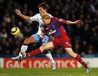 Photo: Javier Garcia/Back Page Images Mobile 07887 794393<br />03/01/2005 Crystal Palace v Aston Villa, FA Barclays Premiership, Selhurst Park<br />Aki Riihilahti battles with Lee Hendrie