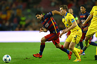 Luis Suarez of FC Barcelona duels for the ball with Vitali Gaiduchik of Bate Borisov during the UEFA Champions League Group E football match between FC Barcelona and Bate Borisov on November 4, 2015 at Camp Nou stadium in Barcelona, Spain. <br /> Photo Manuel Blondeau/AOP.Press/DPPI