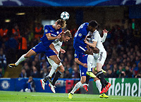 Chelsea's Marcos Alonso in action <br /> <br /> Photographer Ashley Western/CameraSport<br /> <br /> UEFA Champions League - Chelsea v FK Qarabag - Tuesday 12th September 2017 - Stamford Bridge - London<br />  <br /> World Copyright © 2017 CameraSport. All rights reserved. 43 Linden Ave. Countesthorpe. Leicester. England. LE8 5PG - Tel: +44 (0) 116 277 4147 - admin@camerasport.com - www.camerasport.com