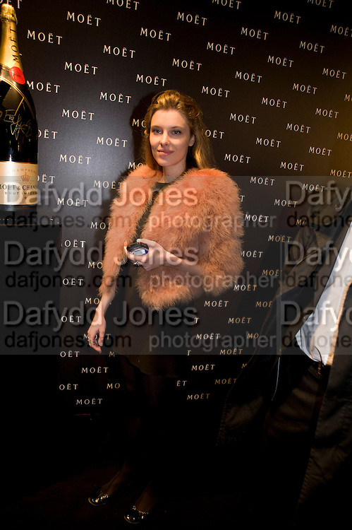 SARA BRAJOVIC, A Tribute to Cinema party given by Moet and Chandon.Big Sky Studios, Brewery Rd. London.  24 March 2009 *** Local Caption *** -DO NOT ARCHIVE-© Copyright Photograph by Dafydd Jones. 248 Clapham Rd. London SW9 0PZ. Tel 0207 820 0771. www.dafjones.com.<br /> SARA BRAJOVIC, A Tribute to Cinema party given by Moet and Chandon.Big Sky Studios, Brewery Rd. London.  24 March 2009