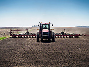 24 APRIL 2019 - PANORA, IOWA: A farmer preps his field east of Panora, in central Iowa. With winter over, Iowa farmers are working their fields. Ninety percent of the land in Iowa is used for agricultural purposes. According to the USDA, there are more than 30 million acres of land in Iowa dedicated to farm use. More than 13 million acres used for corn production and about 10 million acres for soybeans. Iowa is one of the leading states in the US for production of corn, soybeans, and pork.         PHOTO BY JACK KURTZ