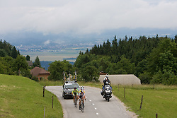 Jens Voigt (GER) of Team Saxo Bank going uphill to Krvavec at 3rd stage of Tour de Slovenie 2009 from Lenart to Krvavec, 175 km, on June 20 2009, Slovenia. (Photo by Vid Ponikvar / Sportida)