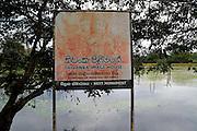 Thivanka Image House sign, Polonnaruwa ancient city site UNESCO, Sri Lanka, Asia