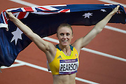Mcc0041438 . Daily Telegraph..DT Sport..2012 Olympics..Australia's Sally Pearson wins the Gold in the Women's 100 meter hurdles...7 August 2012....