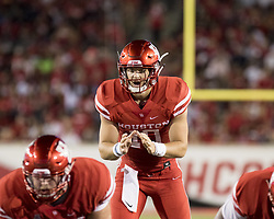 September 16, 2017 - Houston, TX, USA - Houston Cougars quarterback Kyle Allen (10) calls for the snap during the second quarter of the college football game between the Houston Cougars and the Rice Owls at TDECU Stadium in Houston, Texas. (Credit Image: © Scott W. Coleman via ZUMA Wire)