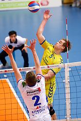 20150426 NED: Eredivisie Landstede Volleybal - Abiant Lycurgus, Zwolle<br />Wessel Blom (5) of Landstede Volleybal<br />©2015-FotoHoogendoorn.nl / Pim Waslander