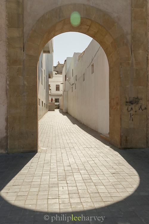Streets of medina on bright sunny day, Casablanca, Morocco