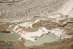 High angle view of frozen stream, Glacier Pasterze, Hohe Tauern National Park, Carinthia, Austria