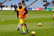 Wimbledon midfielder Andy Barcham (17) warming up  during the EFL Sky Bet League 1 match between Coventry City and AFC Wimbledon at the Ricoh Arena, Coventry, England on 12 January 2019.