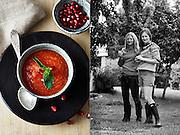 Kokebok om supper.  Av Elisabeth og Jannike Isachsen.  Gyldendal forlag.
