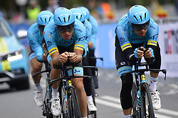 September 22, 2018 - Innsbruck, Autriche - Equipe  Team Astana in action (Credit Image: © Panoramic via ZUMA Press)