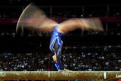 File photo dated 29-07-2012 of Italy's Vanessa Ferrari competes on the beam during the Artistic Gymnastics team qualification at the North Greenwich Arena, London