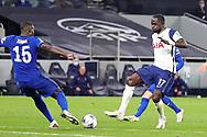 Tottenham Hotspur midfielder Moussa Sissoko (17) shoots towards the goal during the EFL Cup Fourth Round match between Tottenham Hotspur and Chelsea at Tottenham Hotspur Stadium, London, United Kingdom on 29 September 2020.