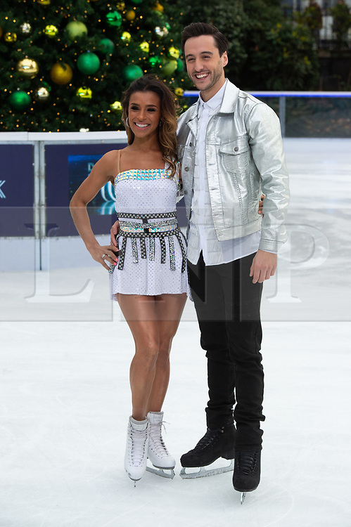 © Licensed to London News Pictures. 18/12/2018. London, UK. Melody Thornton and Alexander Demetriou attends a photocall for the launch of ITV's Dancing On Ice new series. Photo credit: Ray Tang/LNP