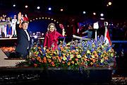 Bevrijdingsconcert - 5 mei-concert op de Amstel, Amsterdam. // Liberation Concert - 5 May concert on the Amstel<br /> <br /> Op de foto:  Koning Willem-Alexander en koningin Maxima / King Willem Alexander and Queen Maxima
