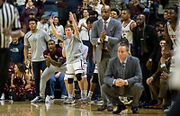 Members of the Texas A&M bench react after a teammate made a three point basket against Florida during the second half of an NCAA college basketball game Tuesday, Jan. 2, 2018, in College Station, Texas. (AP Photo/Sam Craft)